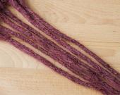 Echthaar Dreadlocks mahagoni - bordeaux - violet / Dread Verlängerungen / Extensions