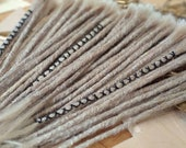 Human Hair Dreadlocks - Light Grey / White Grey / Grey Blonde / Dreadlock Extensions / Extensions / Grey Blonde / Dreads