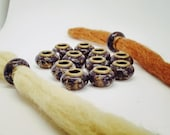 Dreadbeads m. Lavender/natural pearls/dreadbeads dreadlock beads/beard beads/dreadlock beads