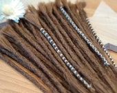Human Hair Dreadlocks in Light Brown / Dread Extensions / Extensions
