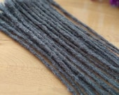 Echthaar Dreadlocks - Dunkelgrau / Dreadlock Extensions / Verlängerungen / dark grey / Dreads