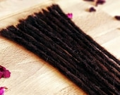 Real hair dreadlocks dark brown/Dread extensions/extensions