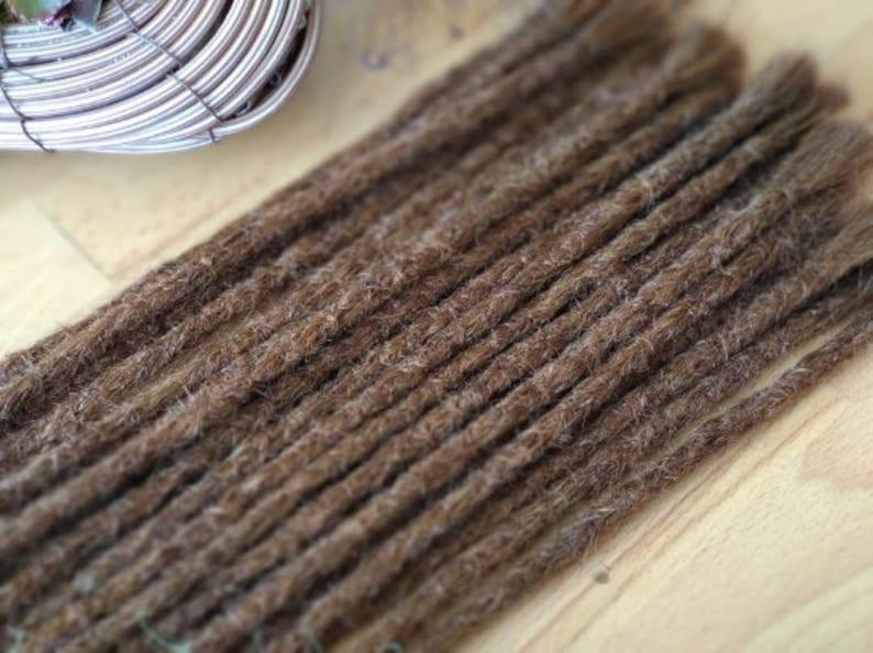 Human hair dreadlocks in chocolate brown / dread extensions / image 0