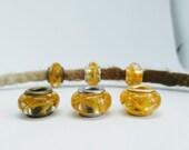 Dread beads m. Marigold / Natural pearls / Dread beads dreadlock beads / Beard beads / Dreadlock beads