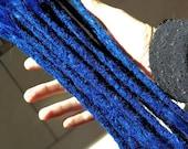 Echthaar Dreadlocks - blau / neonblau / Dreadlock Extensions / Verlängerungen / blue / Dreads