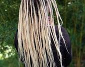 Human hair dreadlocks white blonde / platinum blonde / dread extensions / extensions