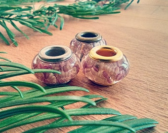 Dread beads m. trembling grass / natural pearls / dreadbeers dreadlock beads / beard beads / dreadlock beads