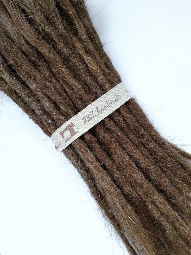 European Human Hair Dreadlocks Light Brown / Dread Extensions image 0