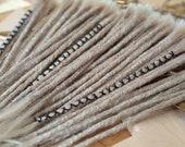 Human Hair Dreadlocks - Light Grey / White Grey / Grey Blonde / Dreadlock Extensions / Extensions / Grey Blonde / Dreads