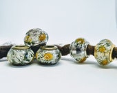 Dread beads m. Daisies / Natural Beads / Dread Beads Dreadlock Beads / Beard Beads / Dreadlock Beads