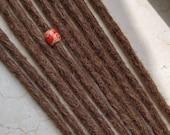 Human hair dreadlocks in golden brown / caramel brown / dark blonde dread extensions / extensions