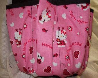 de3b6b46e Hello Kitty with little Hearts Print 9 Pocket Cloth Bingo Bag