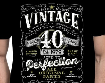 40th Birthday Shirt For Men And Women Born In 2019