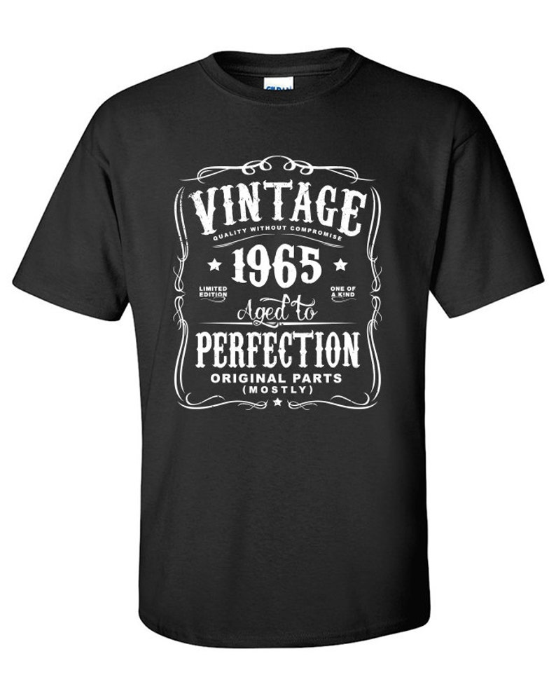 52nd Birthday Gift For Men And Women Vintage 1965 Aged To