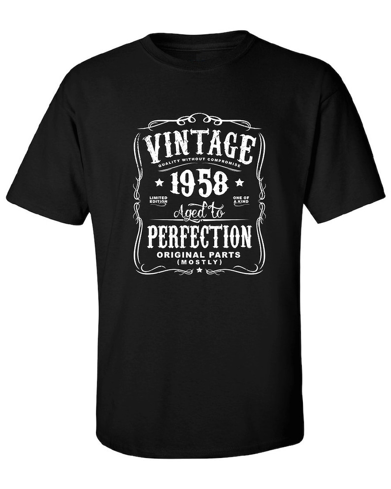 60th In 2018 Birthday Gift For Men And Women Vintage 1958