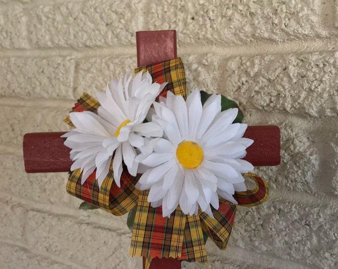 Cemetery cross, grave memorial, grave decoration, memorial cross, Floral Memorial, grave marker, in memory of