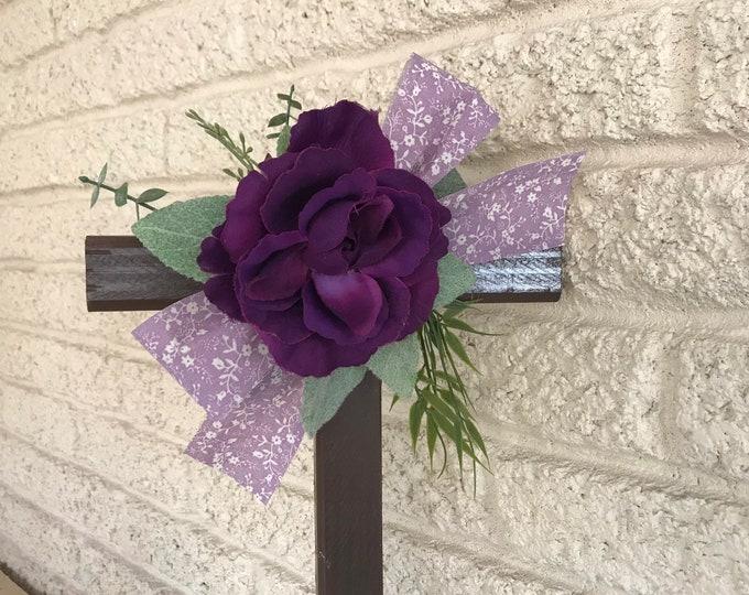 Cemetery Cross , flowers for grave, grave decoration, memorial cross, Cross for grave, cemetery cross.
