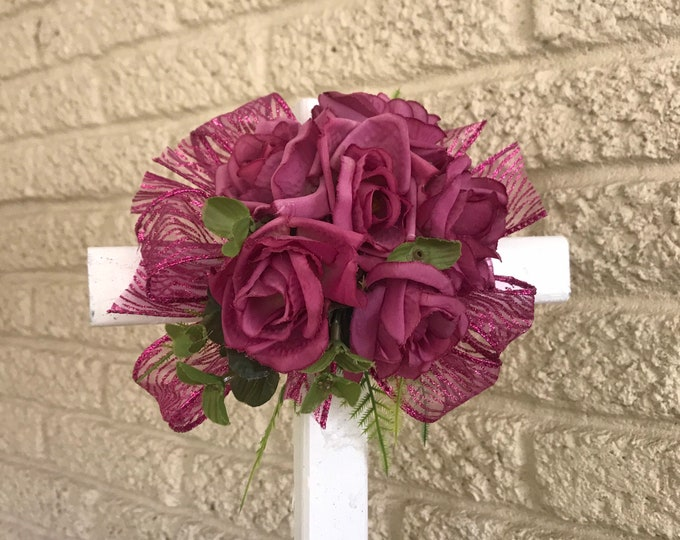 SALE Cemetery Cross , flowers for grave, grave decoration, memorial cross, Cross for grave, cemetery cross.
