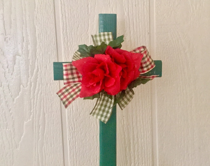 Cemetery cross - Christmas grave - cemetery decoration, Memorial, cemetery and funeral