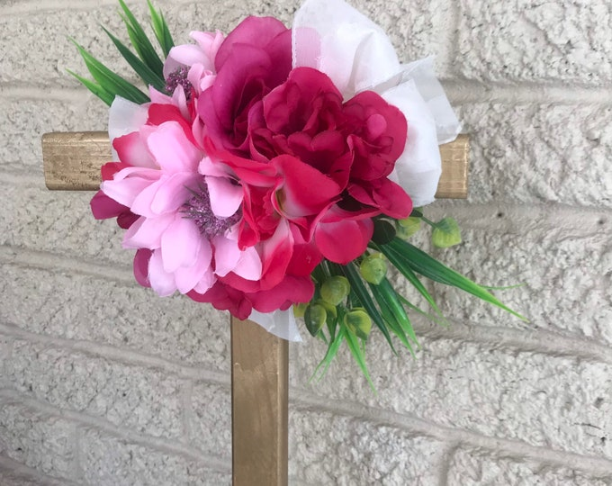 """18"""" Cemetery flowers , flowers for grave, grave decoration, memorial cross, Cross for grave, cemetery cross."""