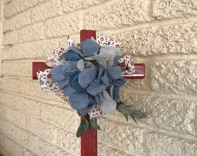Cemetery Cross , flowers for grave, grave decoration, memorial cross, Cross for grave, cemetery cross.