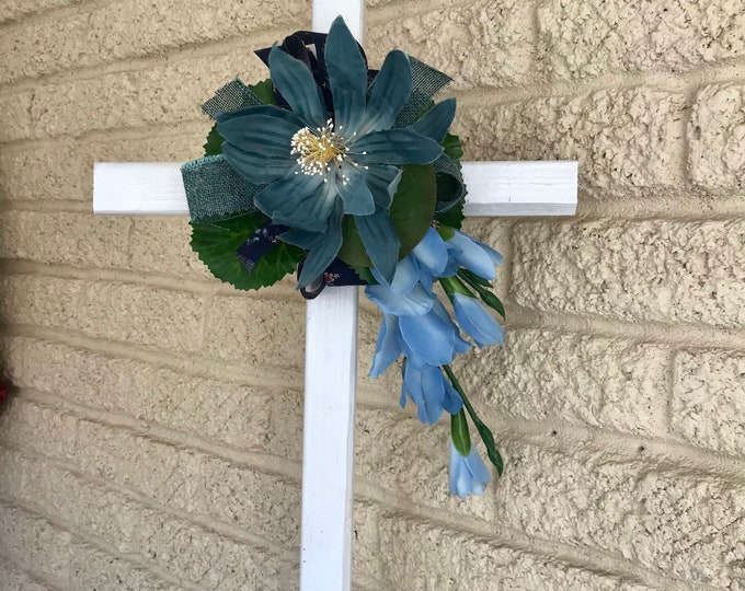 "NEW 24"" cross, cemetery marker, Flowers for grave, Memorial Day"