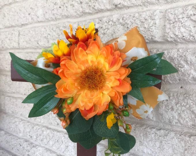 "18"" Cemetery , Cross , flowers for grave, grave decoration, memorial cross"