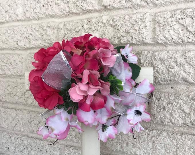 "Cemetery , 18"" Cross , flowers for grave, grave decoration, memorial cross"