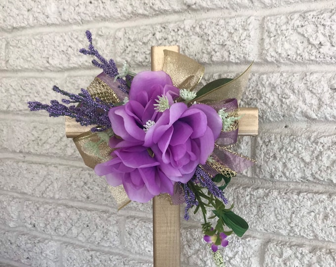"18"" Cemetery Cross , flowers for grave, grave decoration, memorial cross, Cross for grave, cemetery cross."