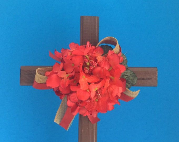 Fall Cemetery cross, grave decoration, memorial cross, Floral Memorial, flowers for grave, cemetery flowers, memorial flowers