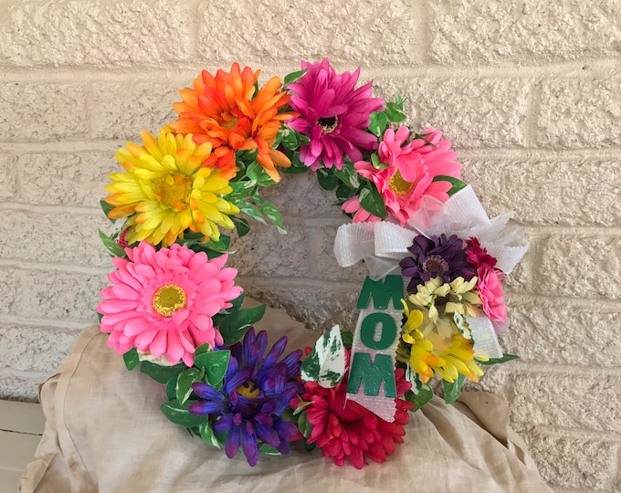 Cemetery flowers, wreath for grave, grave decoration, memorial moms grave, cemetery wreath, in memory of