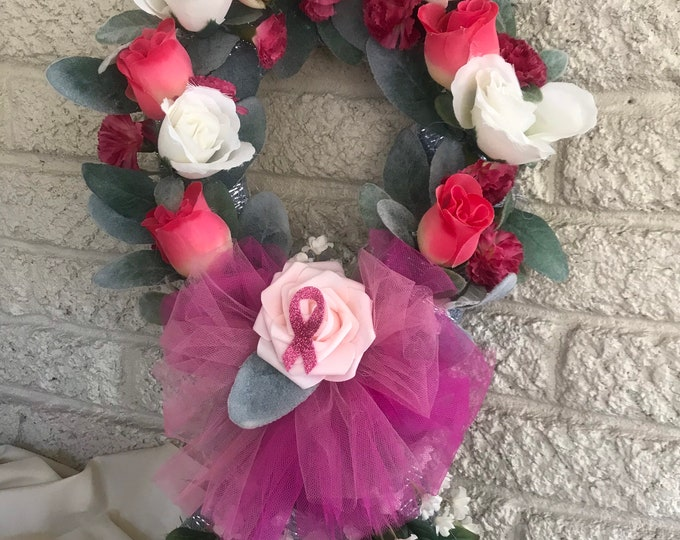 Pink Ribbon Cemetery, pink roses, white roses grave decoration, breast cancer awareness