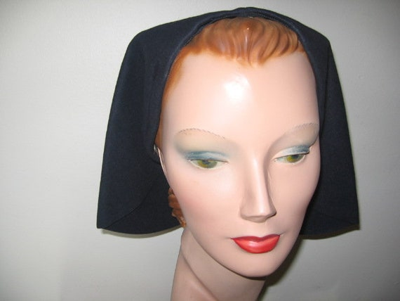 1940's Hat / Off the Face / Navy Blue / New York C