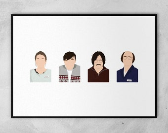 Derek | Ricky Gervais | Karl Pilkington | Minimal Artwork Poster