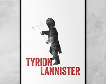Game of Thrones   Tyrion Lannister   Eddard Stark   Sandor Clegane   Oberyn Martell   Silhouette Stamps   Minimal Artwork
