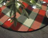 Limited Edition!  Old Canadian Plaid Christmas Tree Skirt
