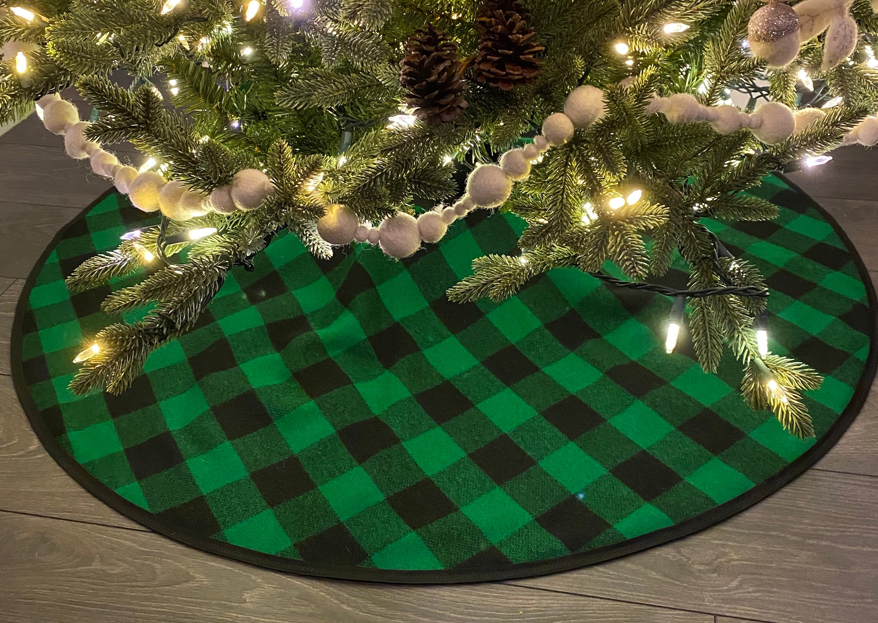 Limited Edition Hunter Green Buffalo Check Christmas Tree Skirt