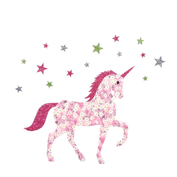 PERSONALIZED FABRIC//T-SHIRT IRON ON TRANSFER UNICORN HORSE::::::::::::::::::::