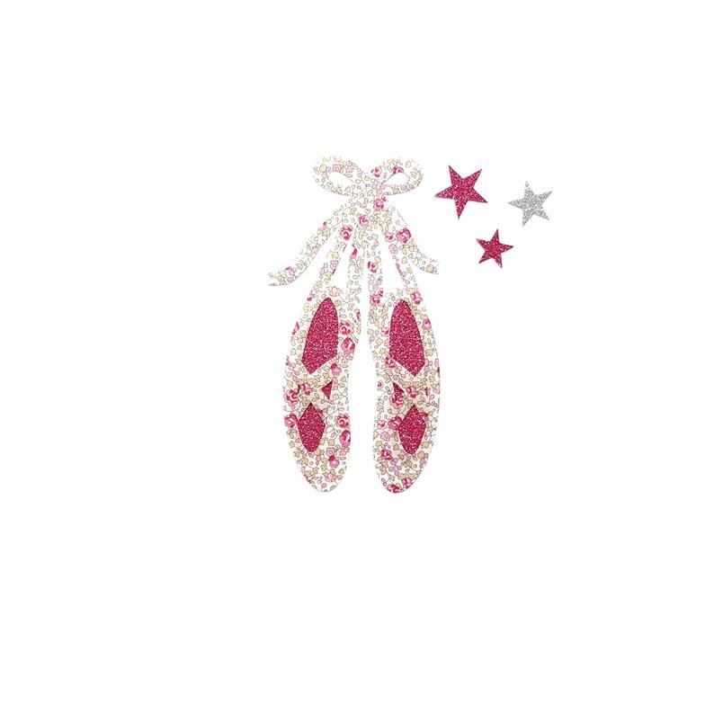 online store d6cd6 61e00 Ballerina slippers, ballerina shoes, dance patch, dance ornament, dance  slippers, applique iron on, Liberty Eloise, ballet shoes, Liberty