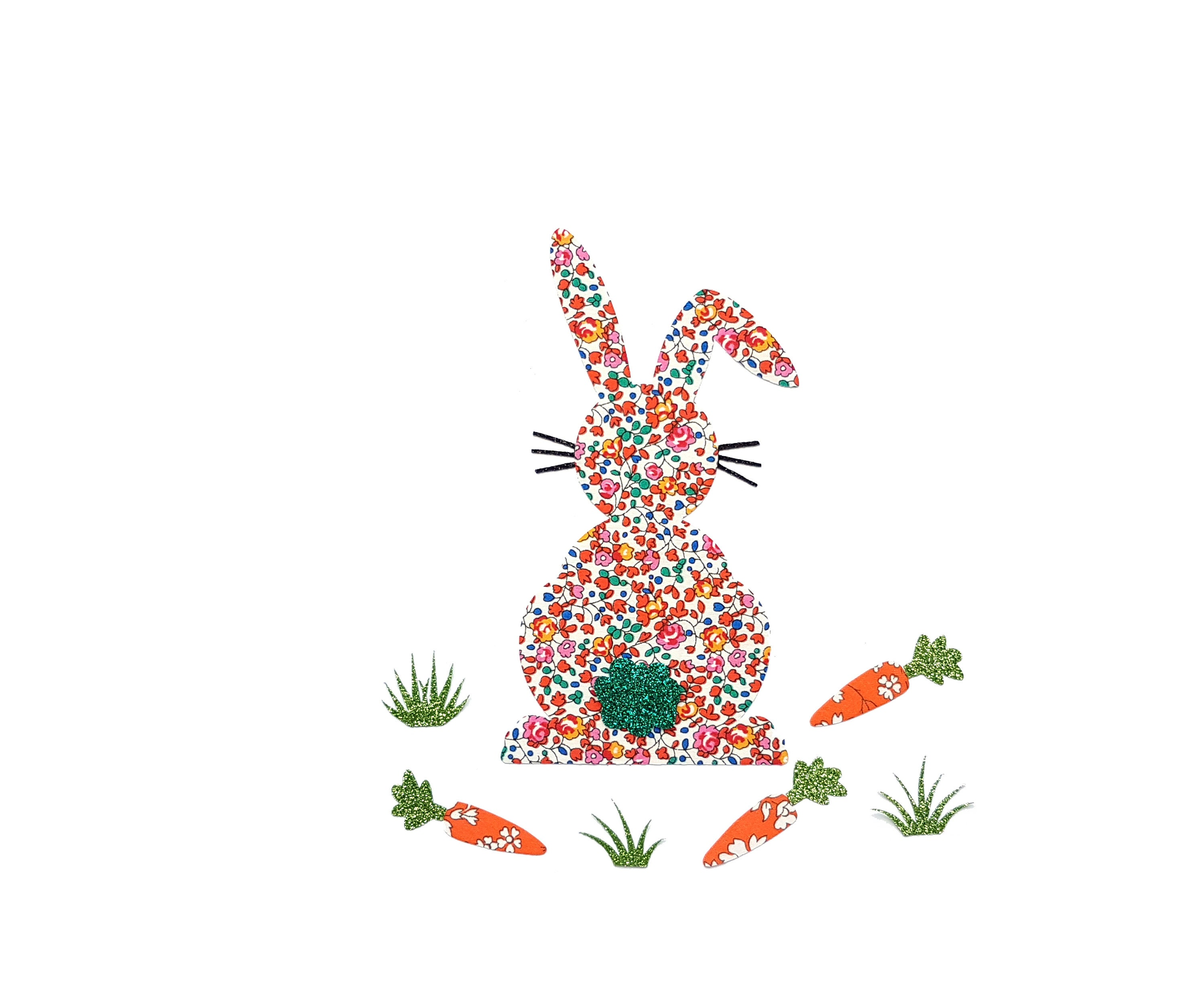 rabbit kids decoration applique Cute bunny animal patch kids custom applied Easter iron on bunnies ornament Liberty Phoebe