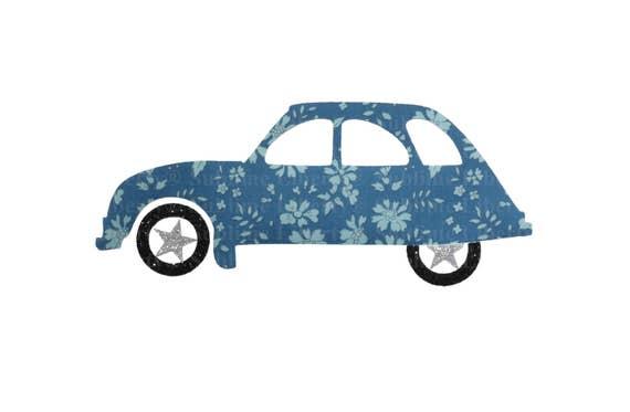 voiture 2cv appliqu u00e9 thermocollant patch ecusson