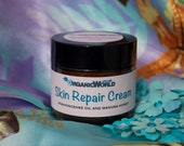 SKIN REPAIR CREAM (organic) with Frankincense Oil & Manuka Honey from Organic World Club. Base - Creamy Yellow Shea Butter and Coconut Oil.