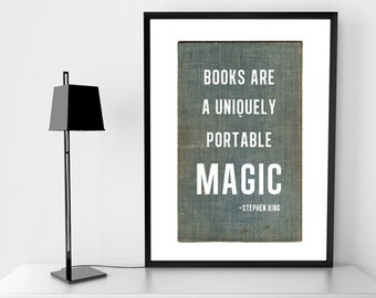 Book Quote Print - Stephen King - Instant download