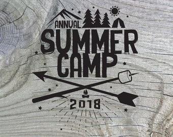 a9848946b295 Scout Summer Camp Shirt Design  10 - Custom - Digital file