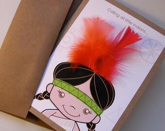 10 petits Indiens, cartes d'invitation - custom