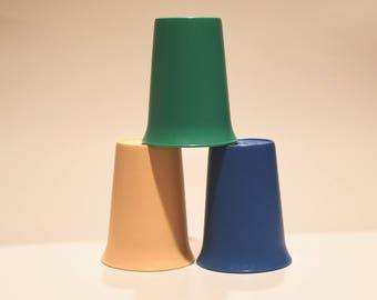 Tupperware Plastic Tumbler Set of Three