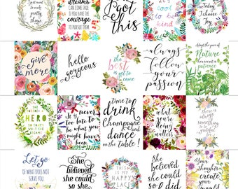 Printable Planner Stickers, Printable Stickers, Planner Supplies, Printable Planner Quotes Erin Condren Vertical Planner