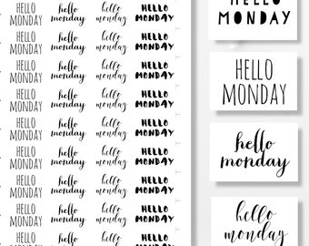 Printable Planner Stickers, Functional Stickers, Hello Monday,  Printable Stickers, Planner Supplies, Printable Planner Quotes