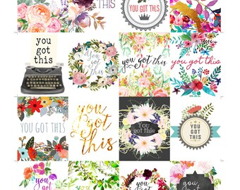 You Got This, Printable Planner Sticker Quotes, Erin Condren Vertical Planner Printable Stickers, Planner Supplies, Printable Planner Quotes