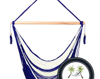 Nautical Hammock Chair - 100% Hand Woven - Perfect for one child, teen or adult!